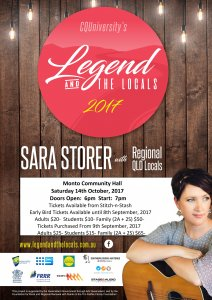 The Legend & The Local Featuring Sara Storer @ Monto Community Hall
