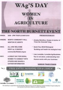 WAg'S DAY - Women in Agriculture @ Monto Community Hall