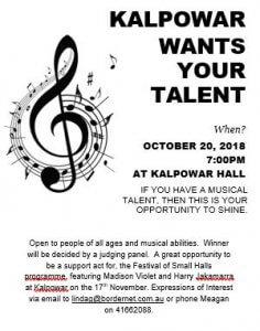 Kalpowar Talent Quest @ Kalpowar Hall | Kalpowar | Queensland | Australia