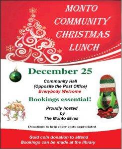 Monto Community Christmas Lunch @ Monto Community Hall  | Monto | Queensland | Australia