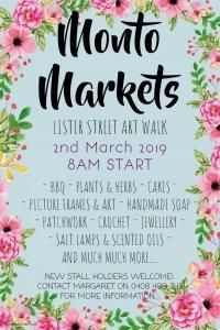 Monto Markets @ Lister Street Artwalk | Monto | Queensland | Australia
