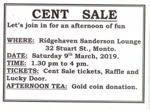 Ridgehaven - Cent Sale @ Ridgehaven Sanderson Lounge